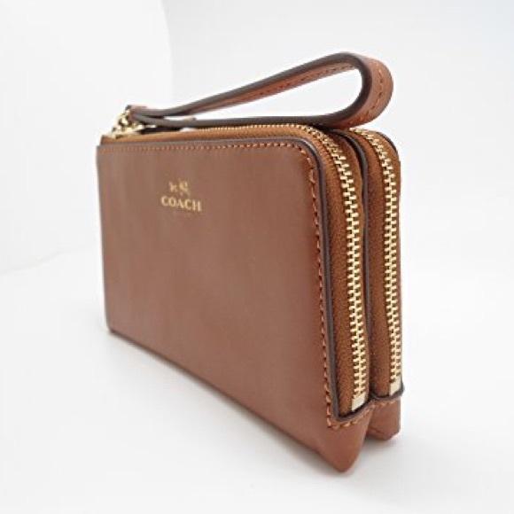 b90eac85b196 NEW Coach Double Zipper Wallet